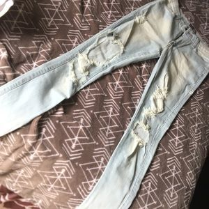 Women's Fashion Nova distressed Jeans